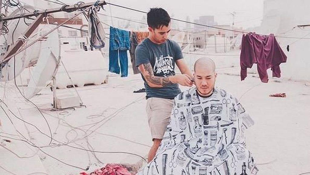 Foto: Tukang Cukur Rambut Ini Bisa Keliling Dunia