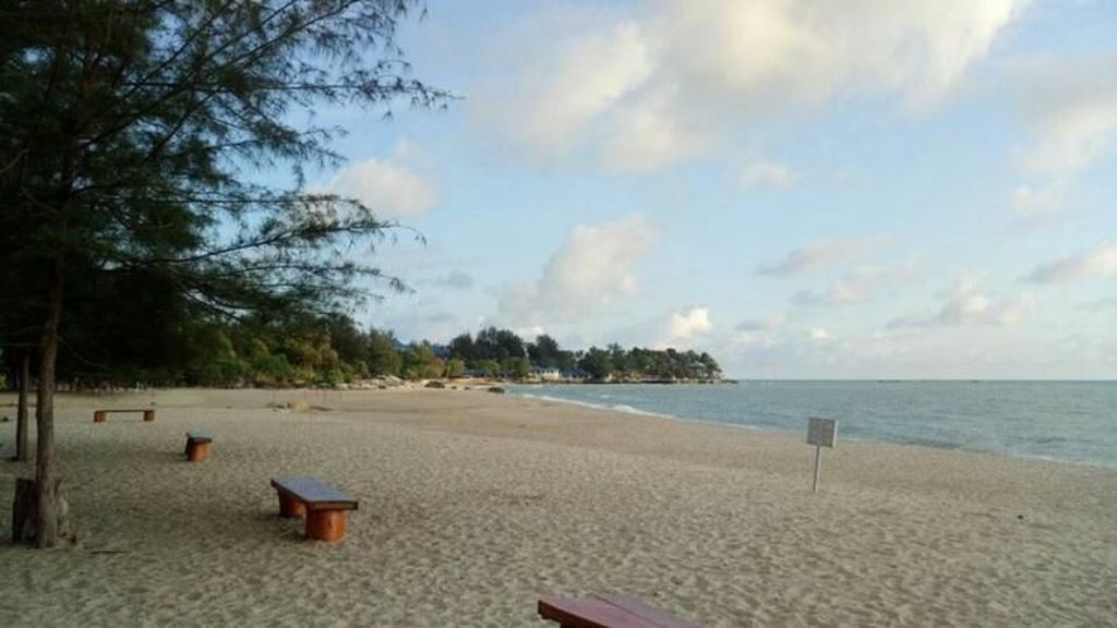 Pantai Tikus Emas yang Damai & Menawan