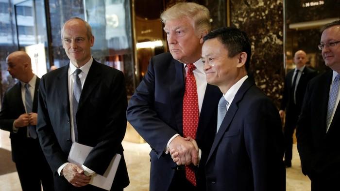 Jack Ma saat bertemu Trump. Foto: Reuters