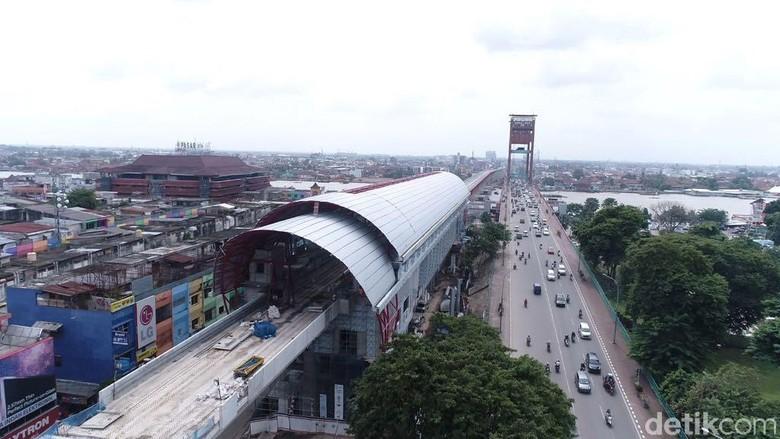 LRT Palembang Sudah Rampung 80%