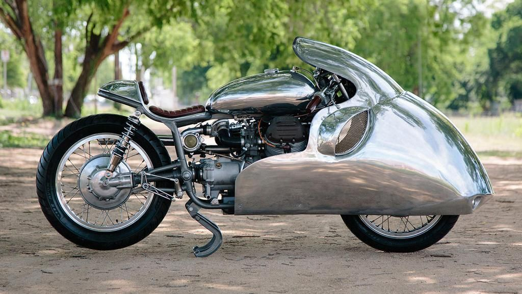 Gokil, Moto Guzzi Turbocharged 1969 Seperti Rudal