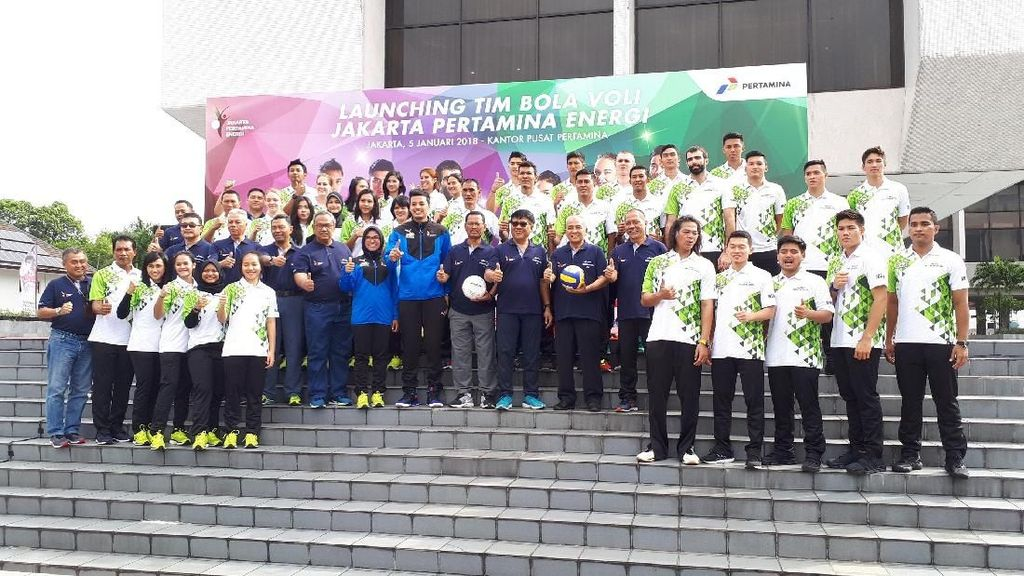 Perkenalkan Tim, Putra-Putri Pertamina Energi Bidik Juara Proliga 2018