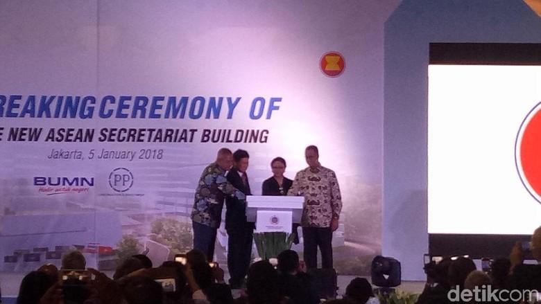 Anies dan Menlu Retno Resmikan Pembangunan Gedung Baru ASEAN