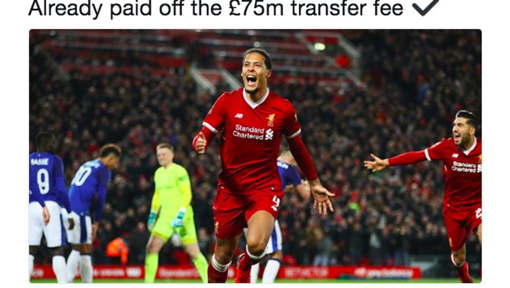 Van Dijk Dipuji Fans Liverpool di Medsos Setinggi Langit