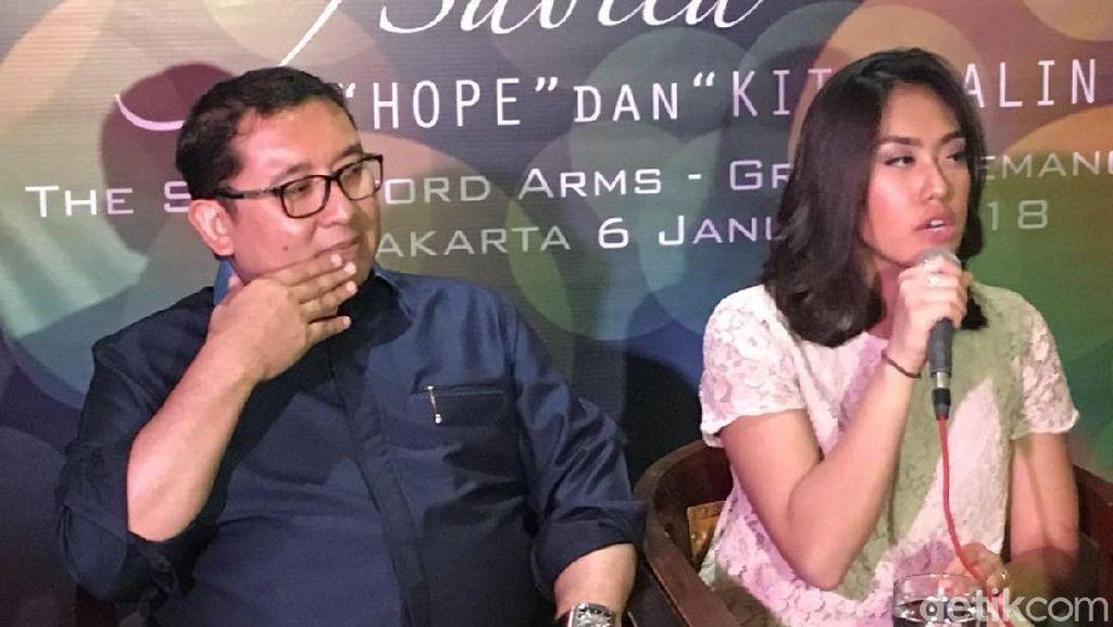 Seriusnya Fadli Zon Nonton Putrinya Nyanyi di Peluncuran Lagu