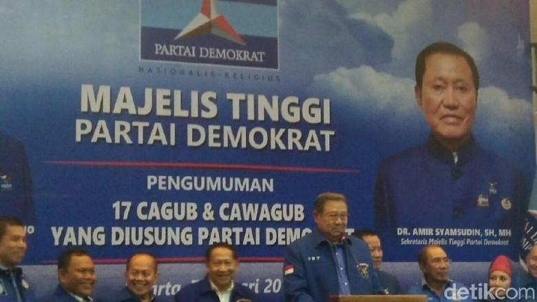 SBY Janji Akan Endorse Cagub-Cawagub yang Diusung Demokrat