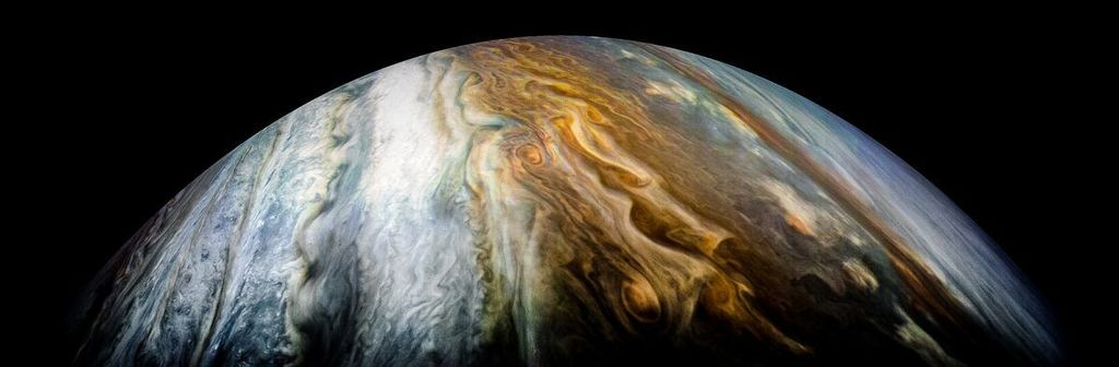 Zona tropis selatan Jupiter. Foto: NASA