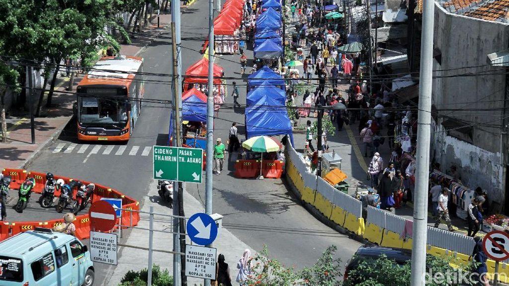Sandiaga Sebut Tanah Abang Lancar, Polisi: Kan Kemarin Libur