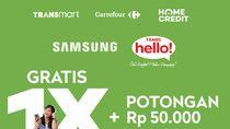 Cicil Ponsel Samsung Tanpa Kartu Kredit di Transmart Carrefour