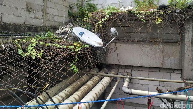 Lokasi jatuhnya Meritha Vridhawati di Apartemen Thamrin City, Senin (8/1/2018)