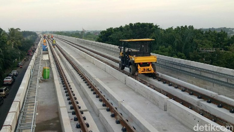 Diuji Coba Maret, LRT Palembang Kelar 81,5%
