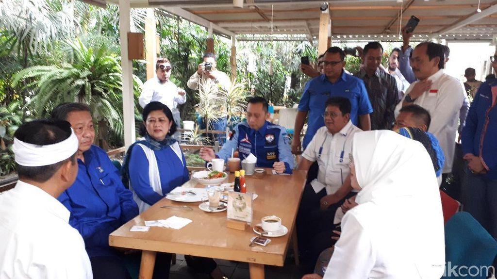 Duo DM Sarapan Bareng SBY dan Ibas Sebelum Deklarasi di Sabuga