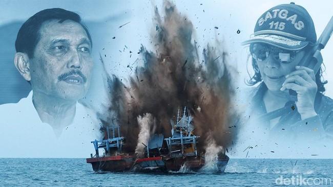 Aksi Susi Tenggelamkan Kapal Terancam Dihentikan