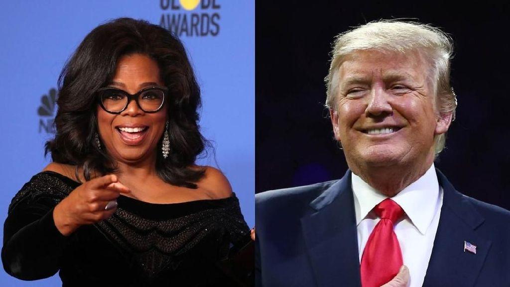 Trump Sebut akan Kalahkan Oprah Winfrey Jika Maju Pilpres AS