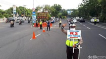 Ingat, Sepeda Motor Masuk Kota Surabaya Wajib Masuk Frontage Road