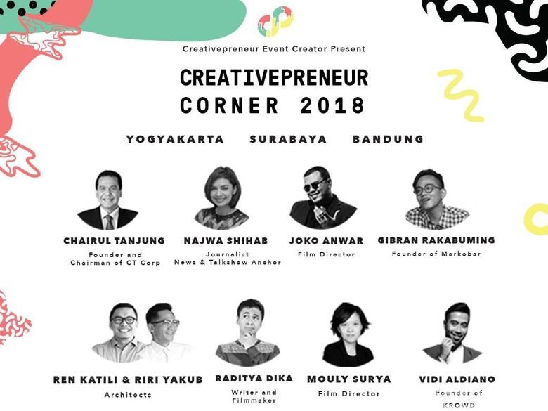 Creativepreneur 2018 Sapa Kreator Muda Yogya, Surabaya dan Bandung