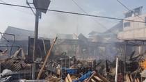 Dipicu Arus Pendek, 118 Kios di Pasar Ciruas Serang Terbakar