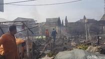 118 Kios Pasar Ciruas Serang Terbakar, Pemkab akan Relokasi Pedagang