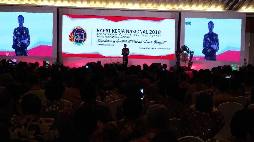 Pertama Kalinya, Jokowi Hadiri Rakernas Kementerian Agraria-BPN
