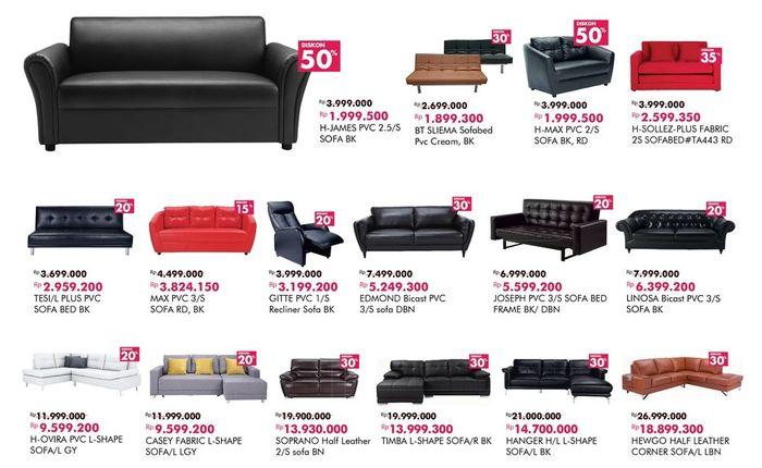 Foto: Sofa Diskon hingga 50% di Index Living Mall (Dok. Transmart Carrefour)