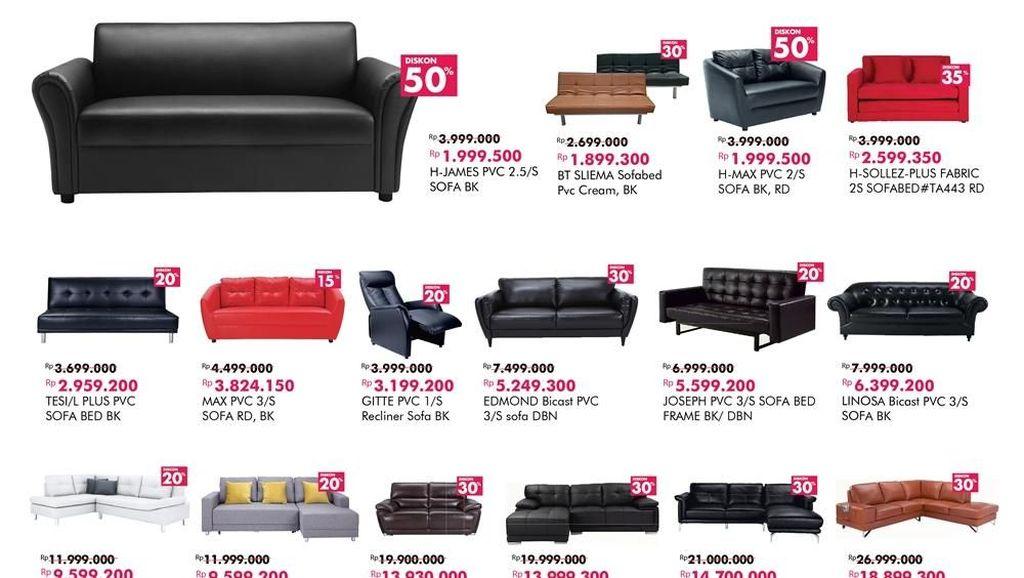 Diskon hingga 50% Sofa Harga Terbaik dari Index Living Mall
