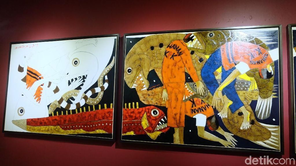 Kolaborasi Ketiga Kalinya Masdibyo dan Gigih Wiyono di Pameran Dua Kutub