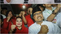 Foto: Duel Ketiga Khofifah vs Gus Ipul di Pilgub Jatim