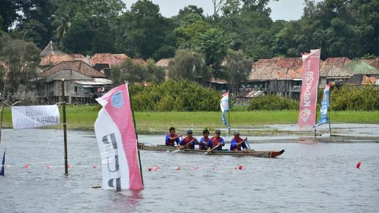 Foto: Wisata sungai di Desa Burai, Ogan Ilir (Raja Adil/detikTravel)