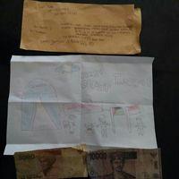 Naurah juga mengirimkan gambar tangan untuk Palestina