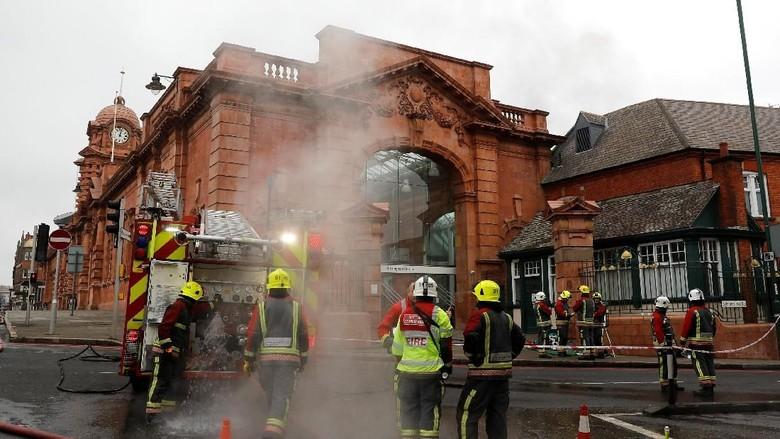 Stasiun Nottingham Inggris Kebakaran, Api Berawal dari Toilet