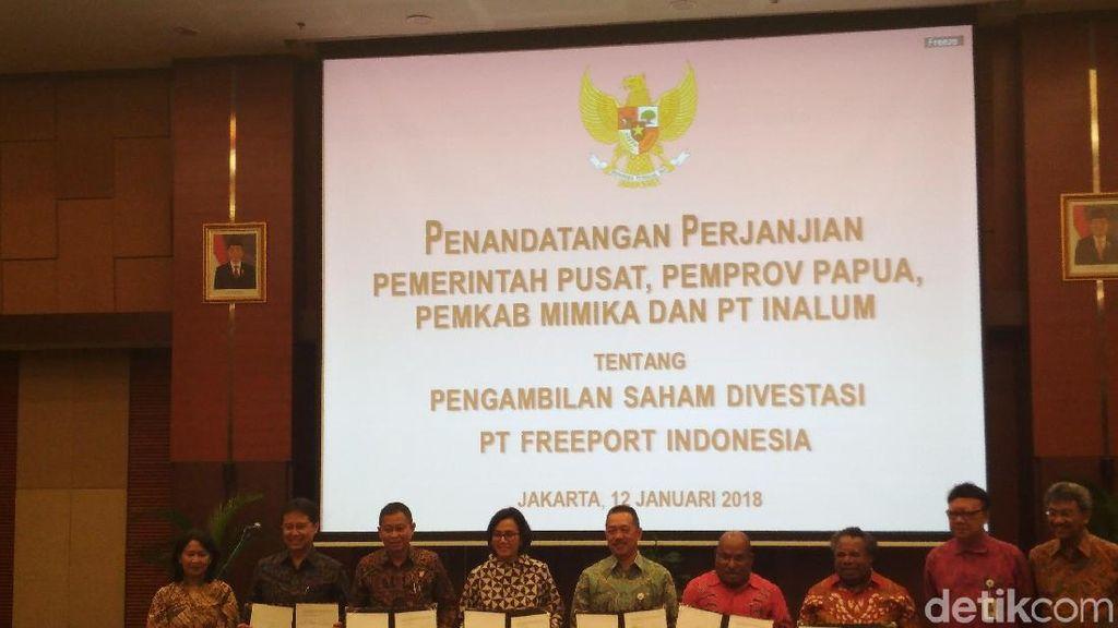 Sah! Pemerintah Beri 10% Saham Freeport ke Pemda Papua