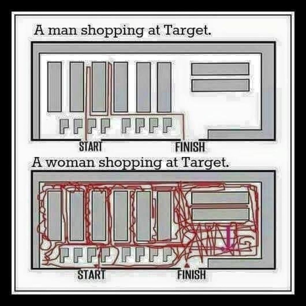Kalau berbelanja, wanita biasanya suka berputar kemana-mana dan pria langsung ke tujuan. Foto: istimewa