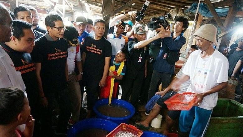 Sandiaga: Pelelangan Ikan di Kampung Pesisir Benar-benar Hancur