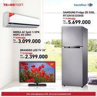 Promo LED TV Sampai Kulkas di Transmart dan Carrefour