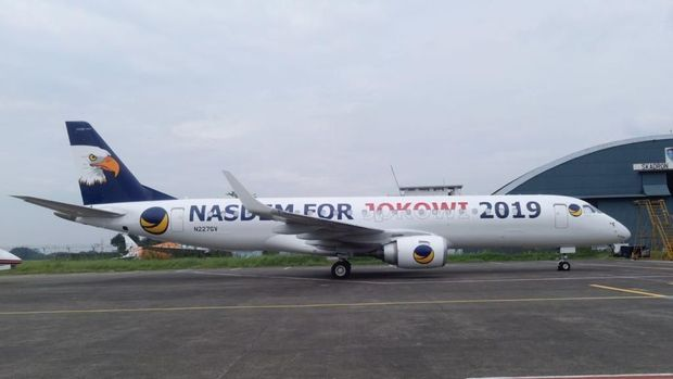 Pesawat NasDem untuk Jokowi 2019 dengan Desain Baru