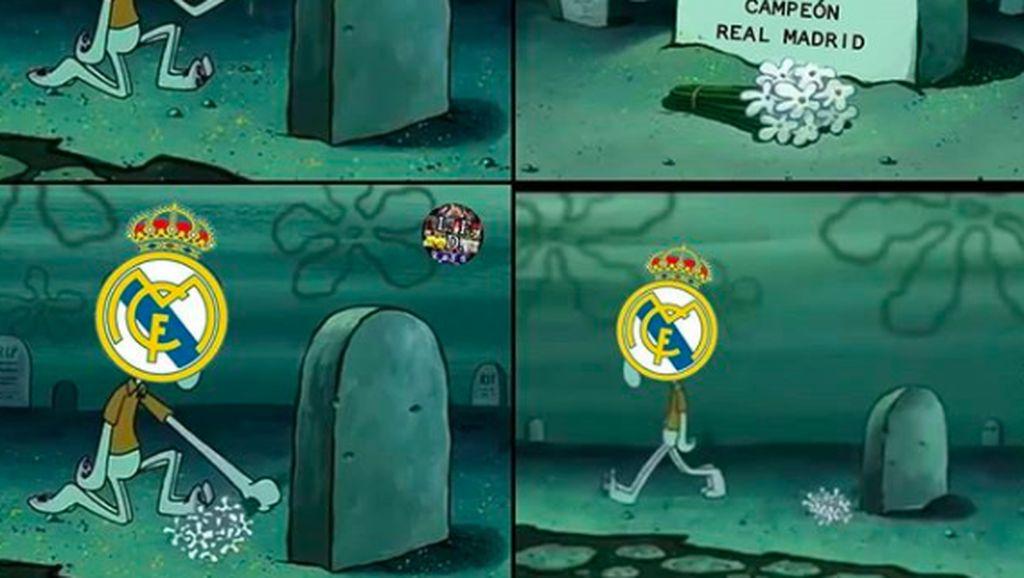 Banjir Meme Lucu Real Madrid Kandas di Kandang Sendiri