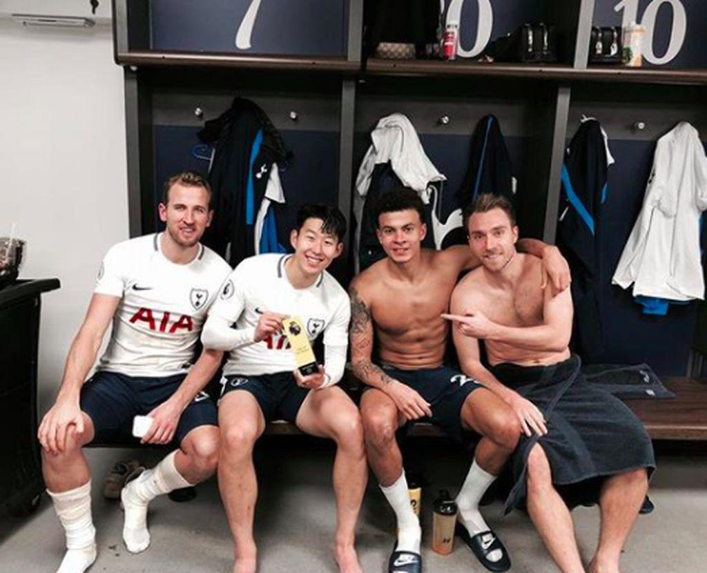 Son Heung-min memajang foto terbarunya ini di Instagram, saat merayakan kemanangan telak 4-0 atas Everton, di mana dia berandil sangat besar. Foto: Instagram