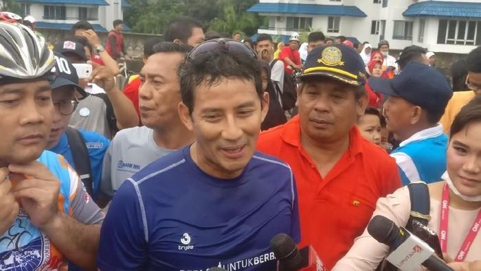 Foto: Sandiaga Uno Buka JLNT Antasari jadi CFD. (Parastiti Putri/detikcom)