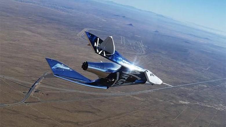 Pesawat VSS Unity milik Virgin Galactic (Twitter)