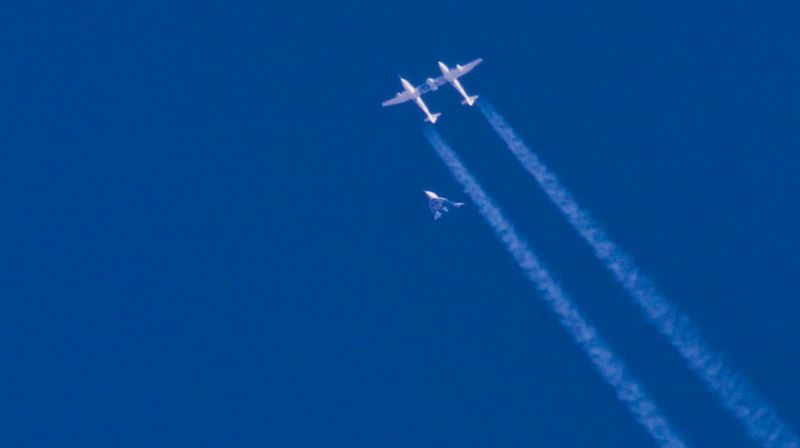 Pesawat VSS Unity merupakan generasi terbaru pesawat SpaceShipTwo milik Virgin Galactic yang nantinya akan membawa wisatawan liburan ke luar angkasa (dok Virgin Galactic)