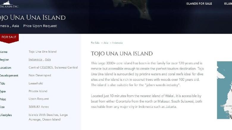 Pulau RI Dijual Online, KKP: Hanya Boleh Hak Pakai dan Sewa