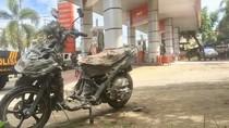 Sepeda Motor Terbakar Saat Isi Bensin di SPBU, Warga Berlarian