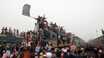 Potret Semrawut dan Berjubelnya Penumpang Kereta di Bangladesh