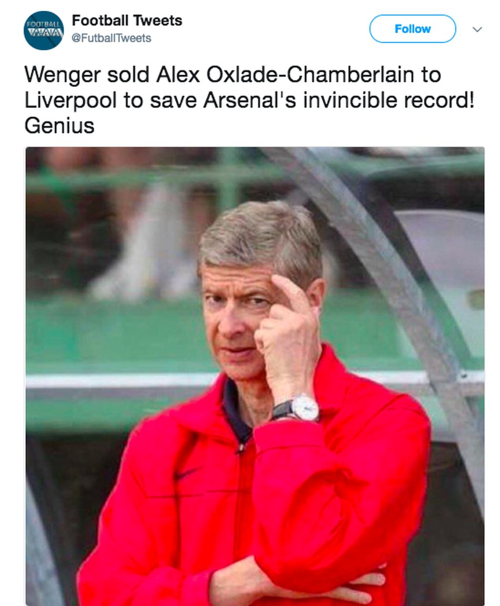 Misi tersembunyi Arsene Wenger, menjual Alex Oxlade Chamberlain ke Liverpool untuk mengalahkan City agar tidak menandingi rekor tak terkalahkan Arsenal. Oxlade mencetak gol pembuka Liverpool lawan City. Foto: istimewa
