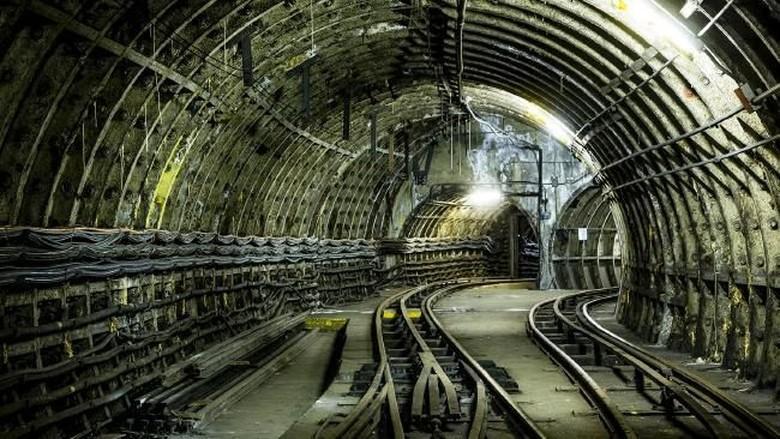 Jalur bawah tanah Mail Rail, London, Inggris (Dok. AFP)