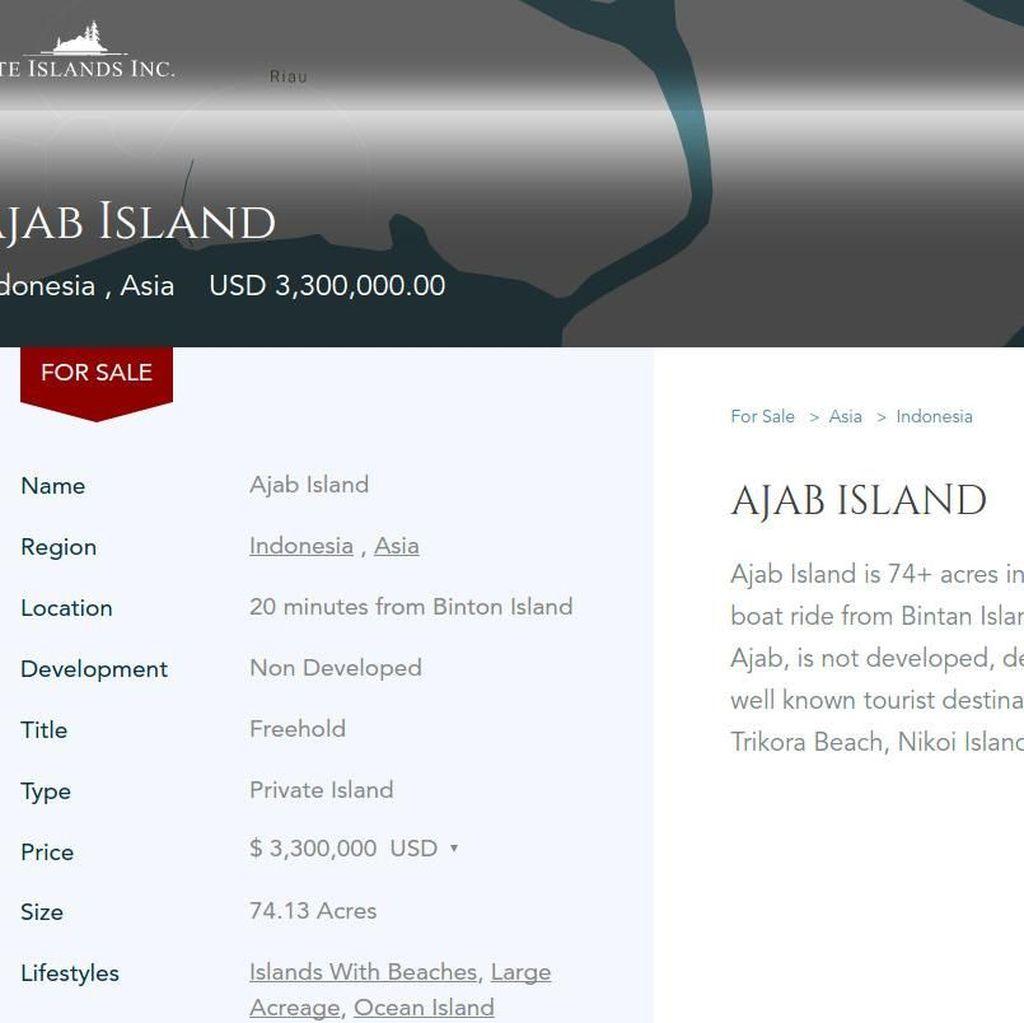 Mau Sewa dan Kelola Pulau di RI? Ini Syaratnya