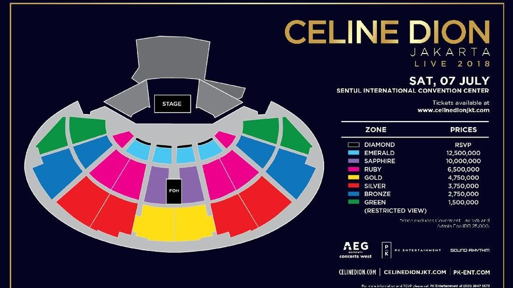Harga Termahal Tiket Celine Dion Bukan Rp 12,5 Juta melainkan Rp 25 Juta