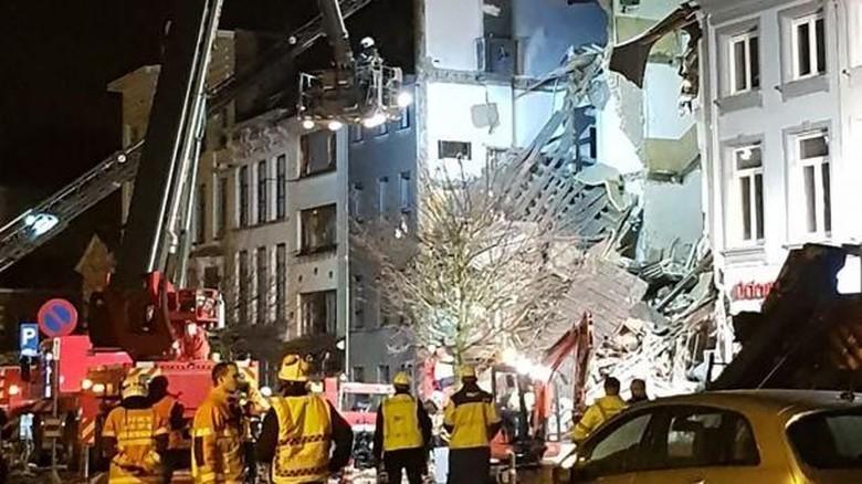 Penampakan Hancur dan Runtuhnya Restoran di Belgia yang Meledak