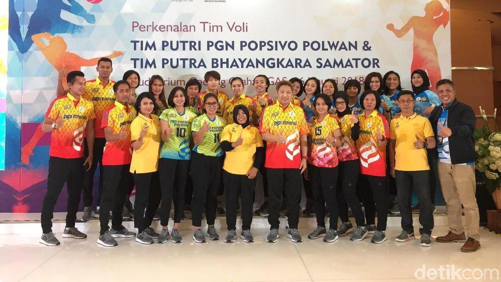 Popsivo Polwan dan Bhayangkara Samator Perkenalkan Tim ke Proliga 2018