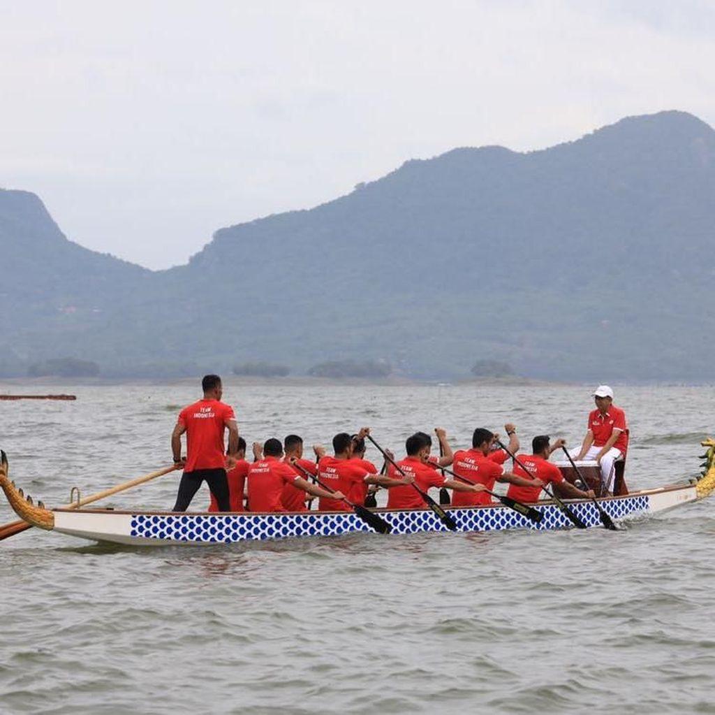 Incar Dua Emas di Asian Games 2018, Perahu Naga Uji Coba ke Singapura dan China